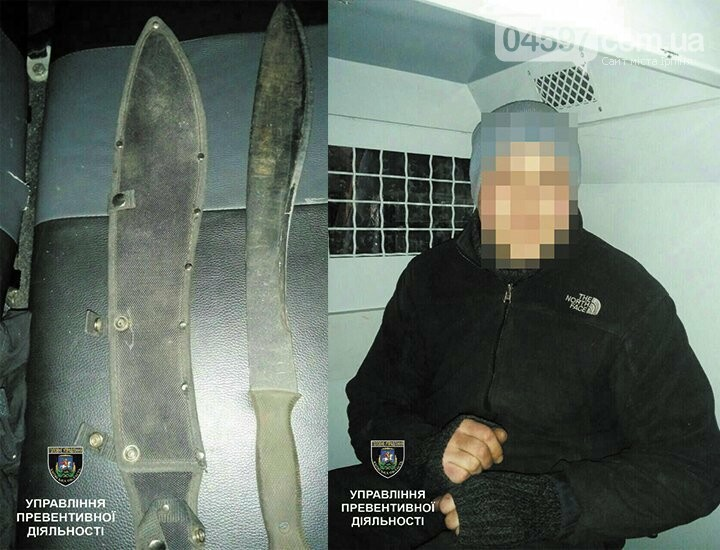 В Ірпені затримали чоловіка з мачете та наркотиками, фото-1