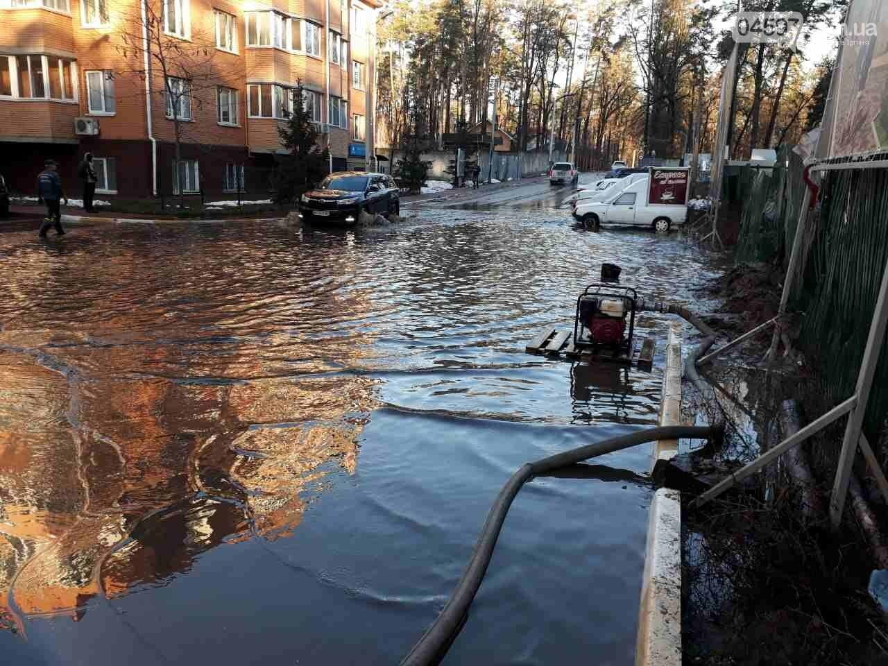 Рятувальники відкачали воду з підтоплених будинків в Ірпені, фото-1