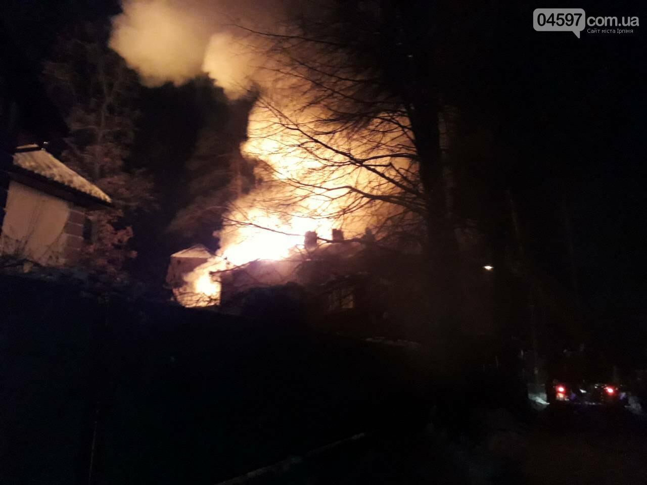 Масштабна пожежа в Ірпені: горів приватний будинок площею 400 м2, фото-3