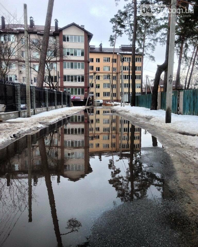 Як Ірпінчани реагують на інтенсивне танення снігу, фото-1