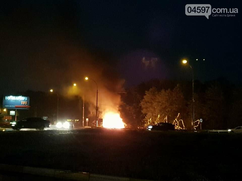 На в'їзді в Ірпінь горить кафе, фото-2
