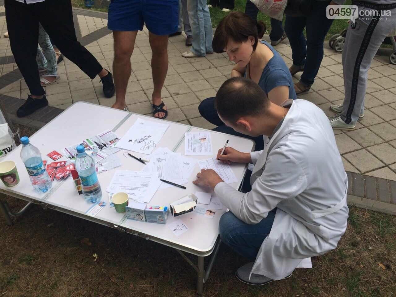 У парку Правика в Ірпені ажіотаж, щоб провести діагностику плоскостопості, фото-7