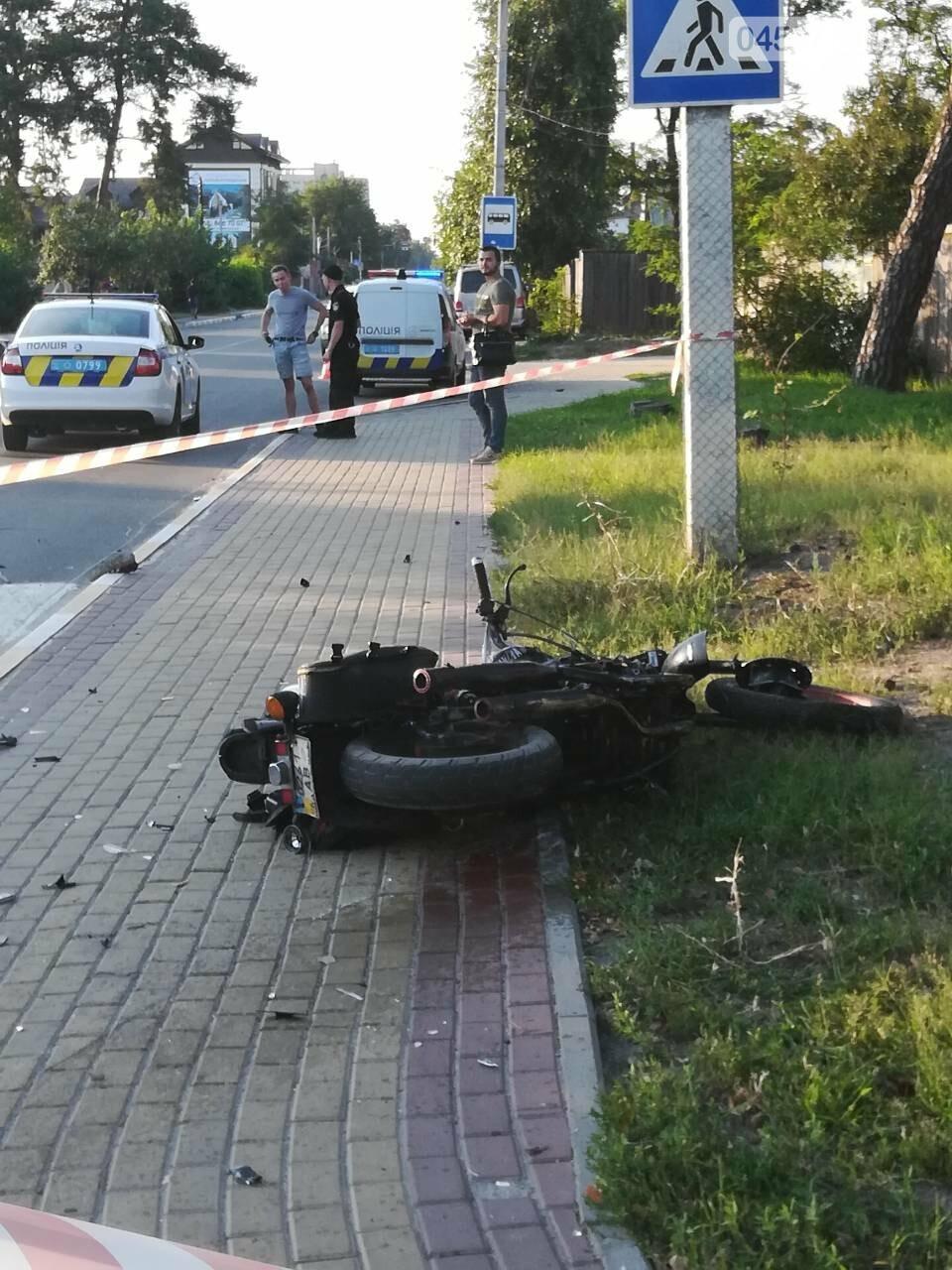 ДТП в Ірпені: мотоцикліст залишився без ноги, фото-3