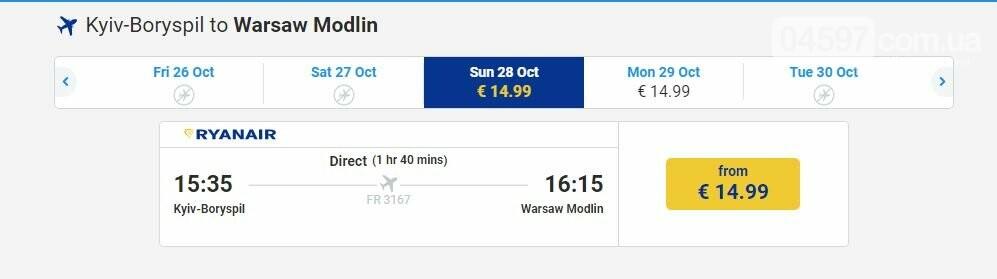 Rynair ввів знижку на всі маршрути з України, фото-1