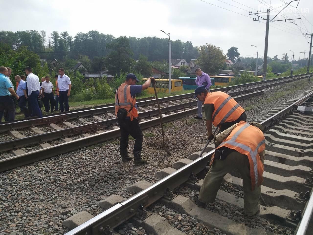 В Ірпені розпочали облаштування наземного переходу через залізничні колії, фото-6
