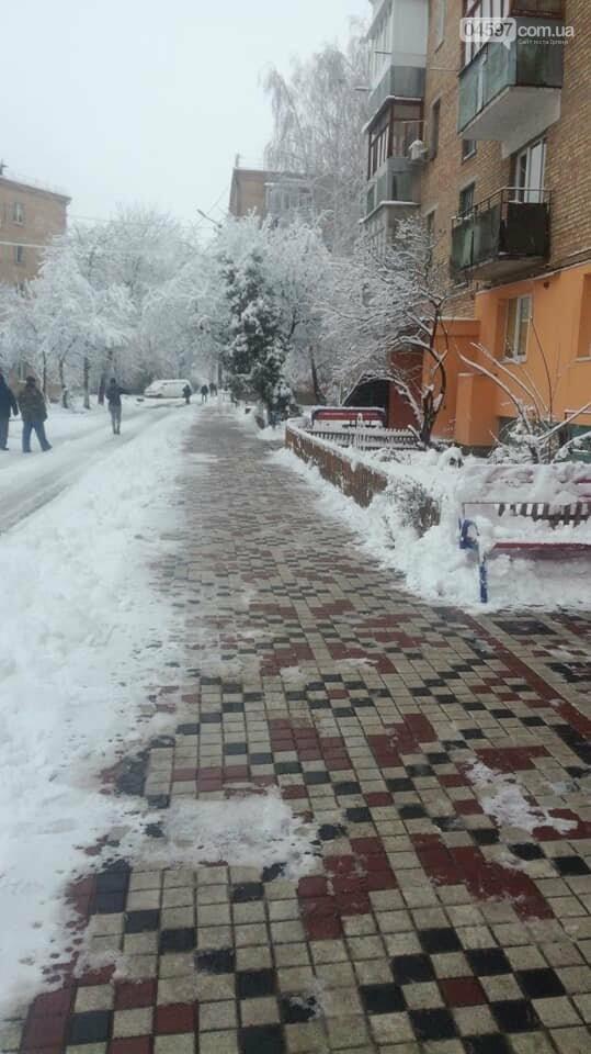 Снігова стихія: що відбувається на дорогах Ірпеня та області, фото-4