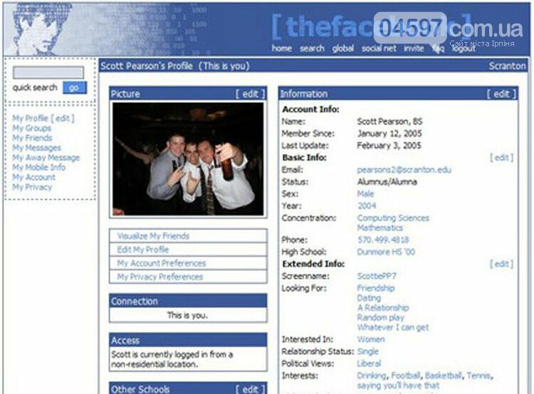Ювілей соцмережі: як виглядав Фейсбук 15 років тому, фото-1