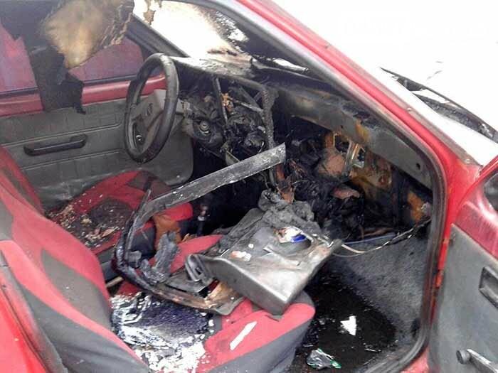 У Гостомелі горіла автівка, фото-2