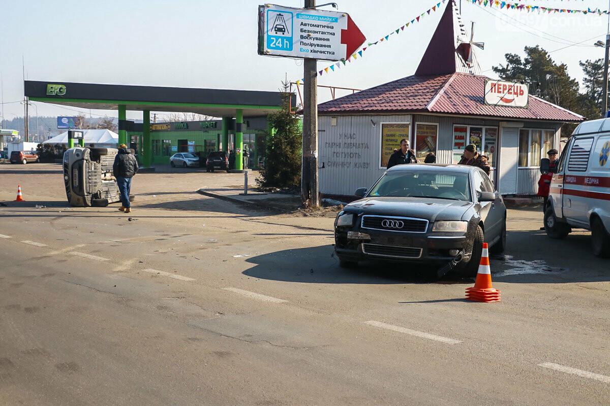 На виїзді з Ірпеня зіткнулися Audi та Suzuki: травмована жінка-пасажир, фото-5