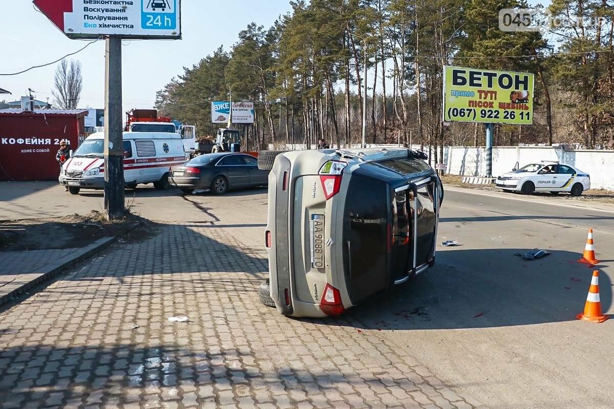 На виїзді з Ірпеня зіткнулися Audi та Suzuki: травмована жінка-пасажир, фото-3