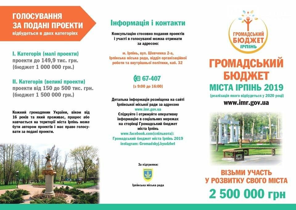 """В Ірпені почався проект """"Громадський бюджет-2019"""", фото-2"""