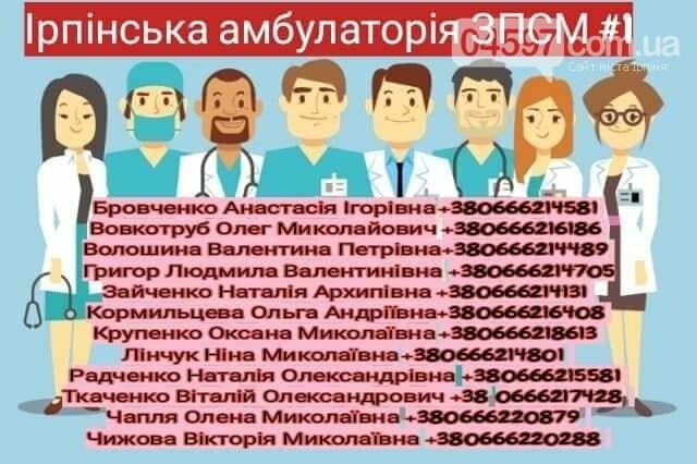 Контактні телефони сімейних лікарів Ірпінського регіону, фото-1