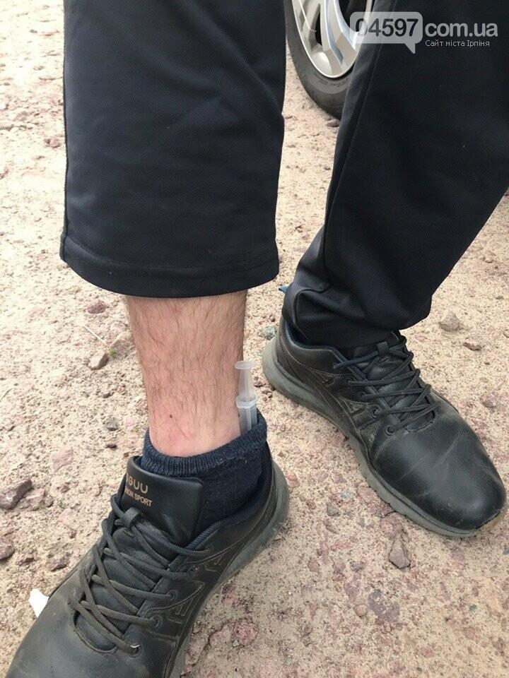 Метадон в шкарпетці та конопля: урожайний день на наркотики у Бучі, фото-1