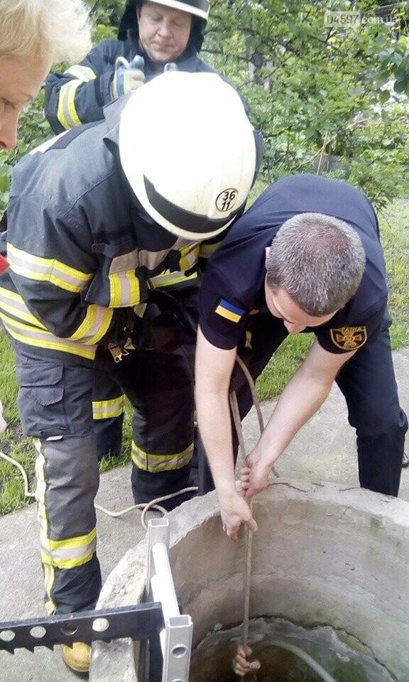 Ірпінські рятувальники витягли бабусю з колодязя, фото-1