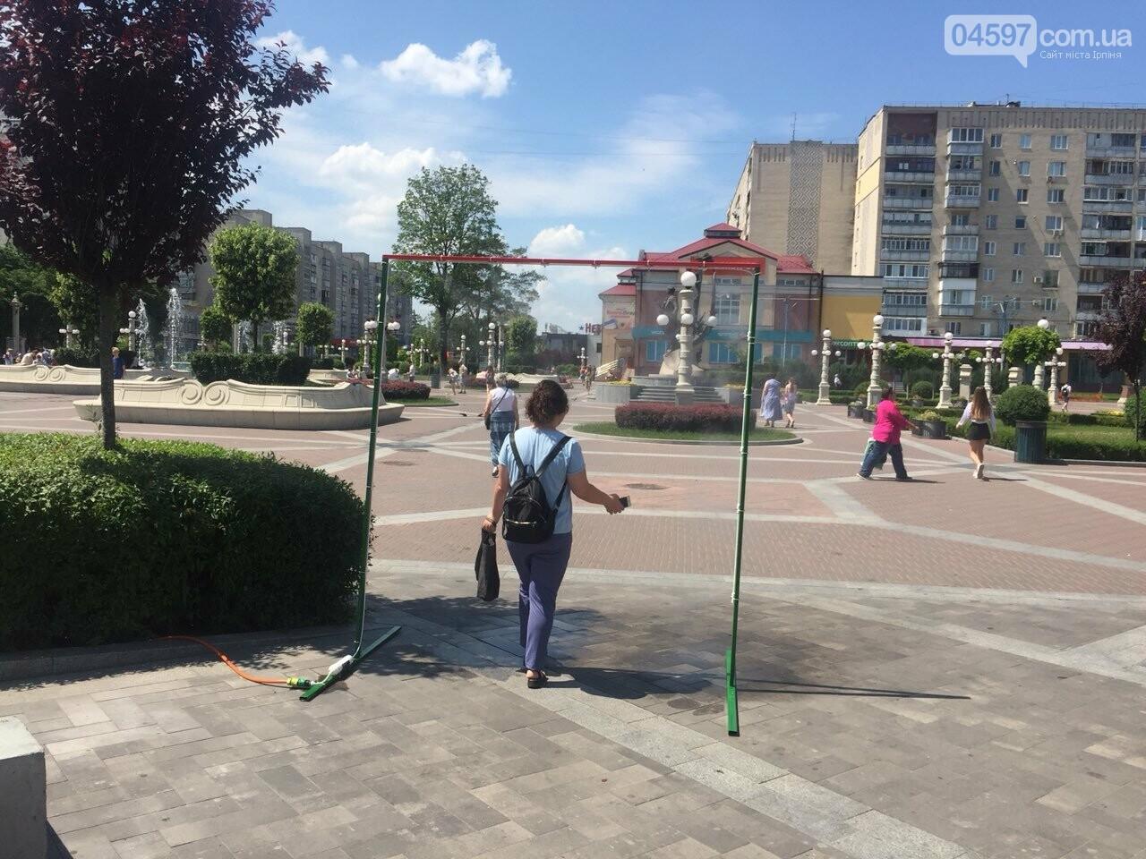 Літо в Ірпені: в центрі встановили охолоджуючу рамку, фото-4