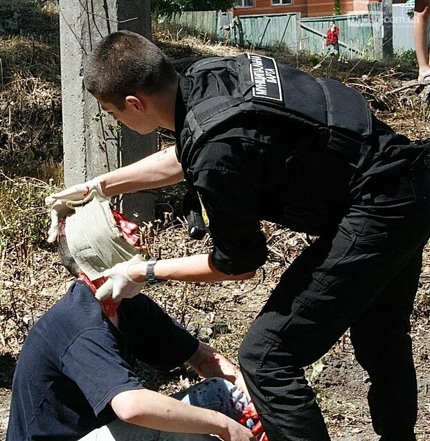 «Муніципальна варта» взяла участь у навчаннях з цивільного захисту, фото-4