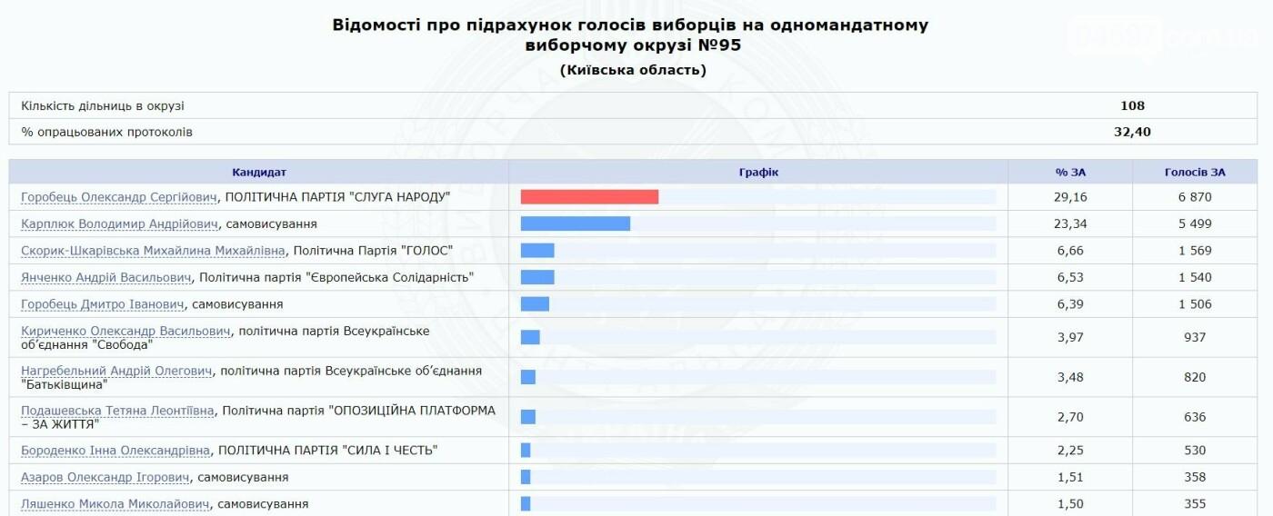 Як голосував 95 округ: результати станом на 14 годину, фото-1