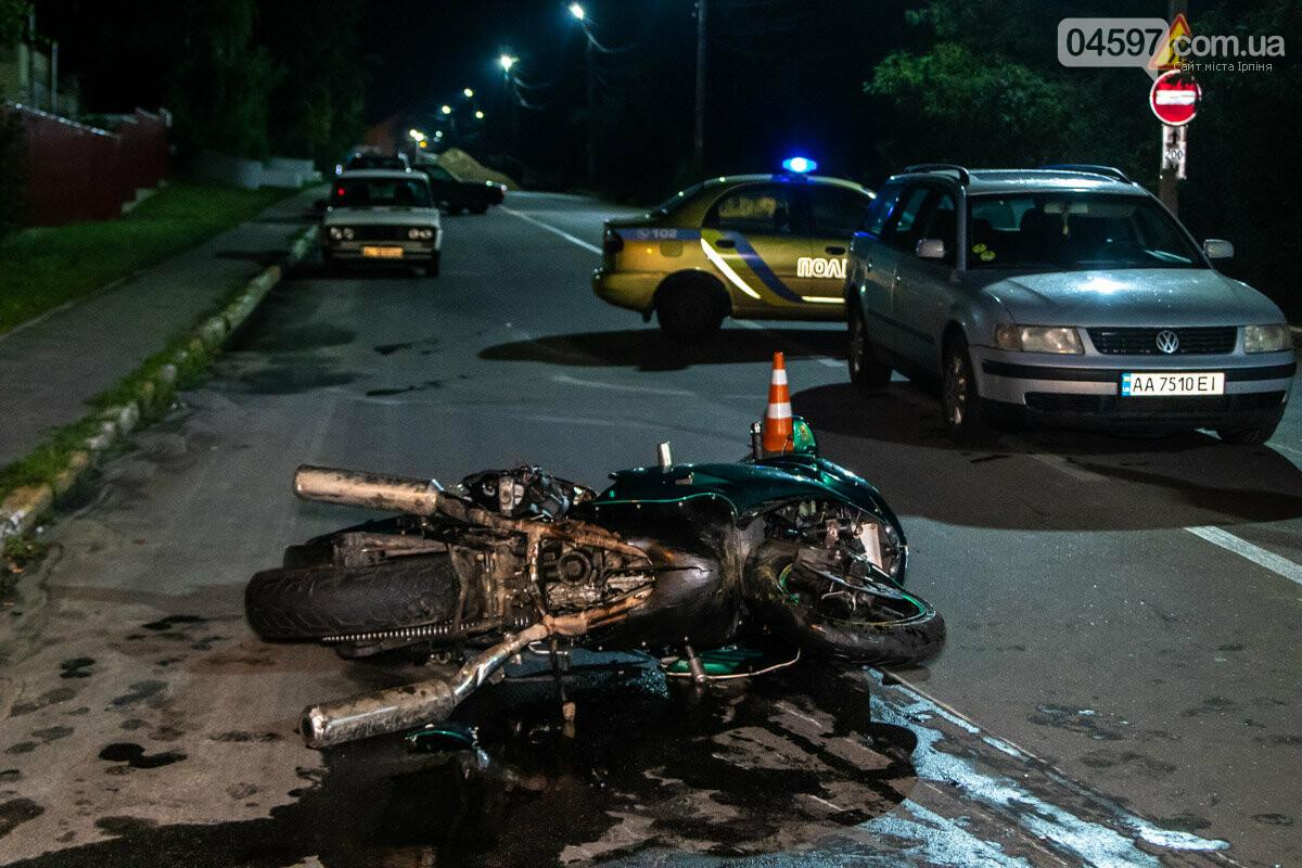 Смертельна ДТП: в Ірпені на вул. Соборній загинув байкер, фото-4