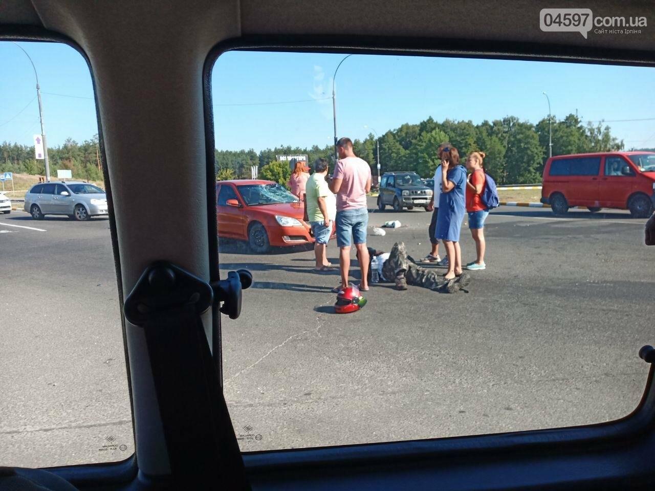 На в'їзді в Ірпінь сталося ДТП, постраждав водій мопеда, фото-2
