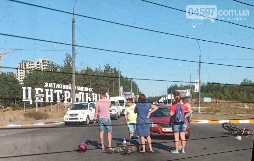 На в'їзді в Ірпінь сталося ДТП, постраждав водій мопеда, фото-1