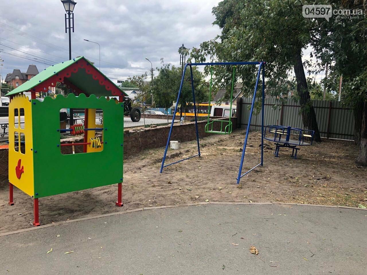 У Гостомелі встановлюють новий дитячий майданчик, фото-1