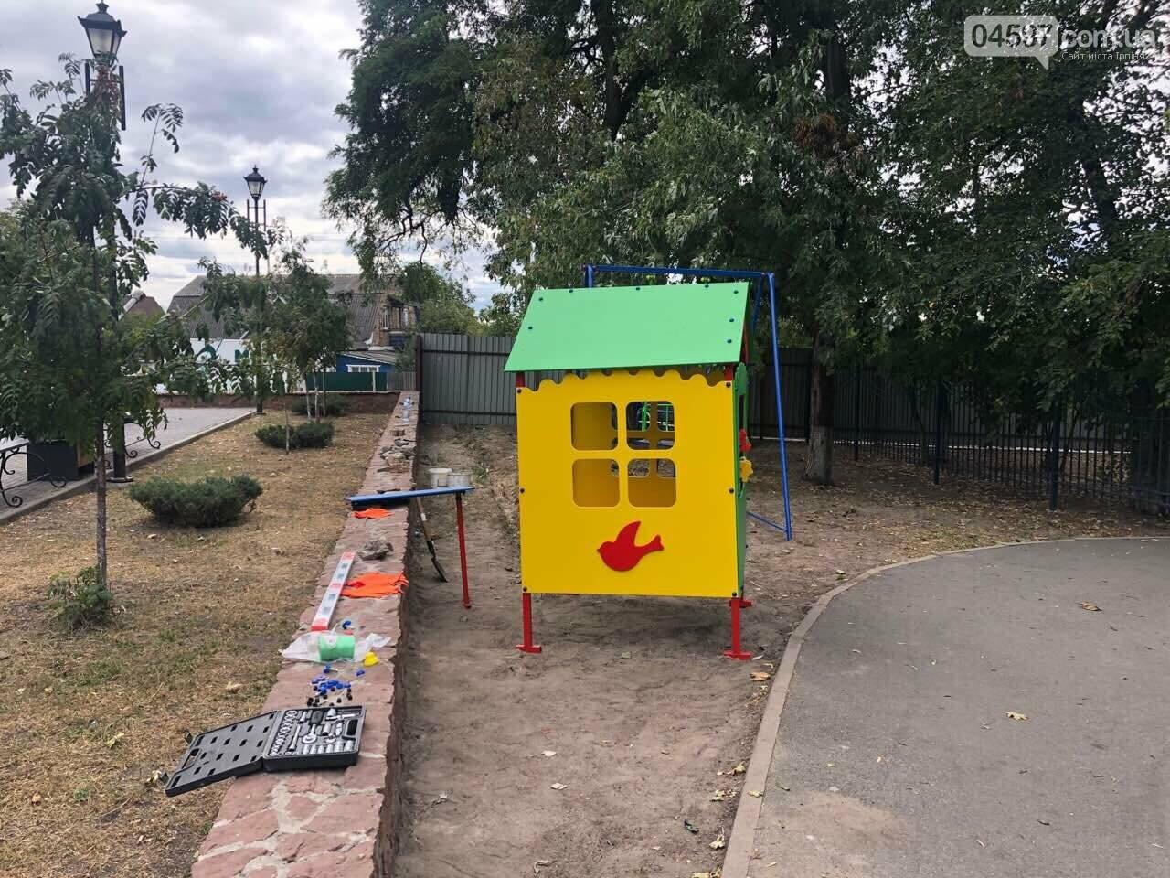 У Гостомелі встановлюють новий дитячий майданчик, фото-5