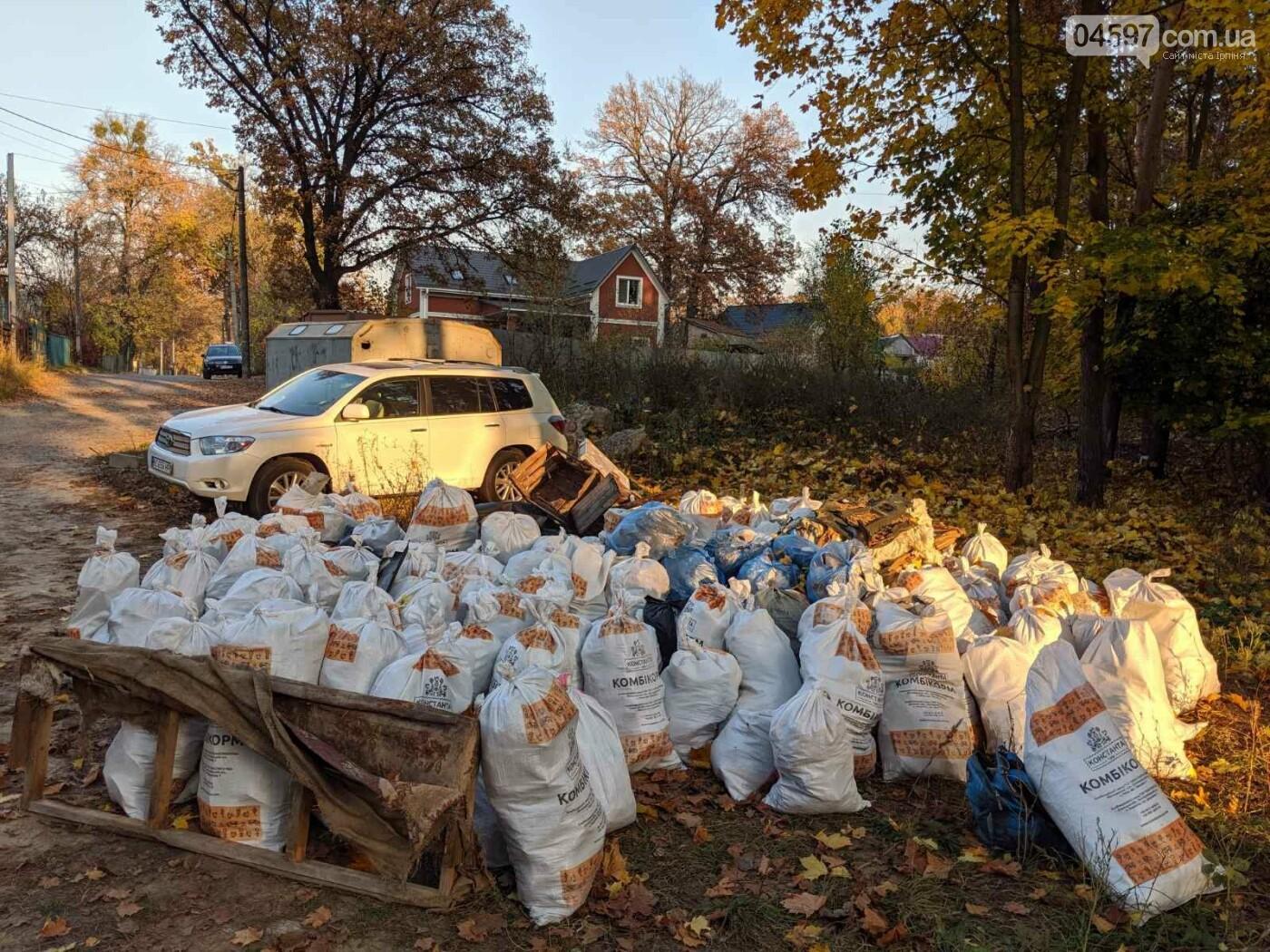 Ірпінчани рятують ліс: вивезли понад 100 мішків сміття, фото-4