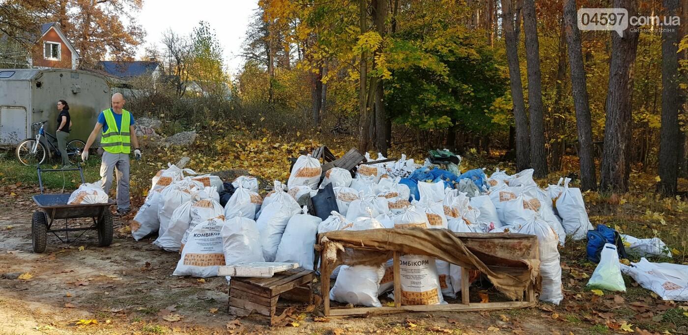 Ірпінчани рятують ліс: вивезли понад 100 мішків сміття, фото-6