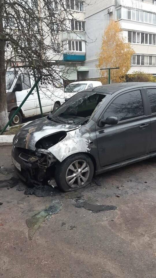 У Коцюбинському горіла автівка, фото-1