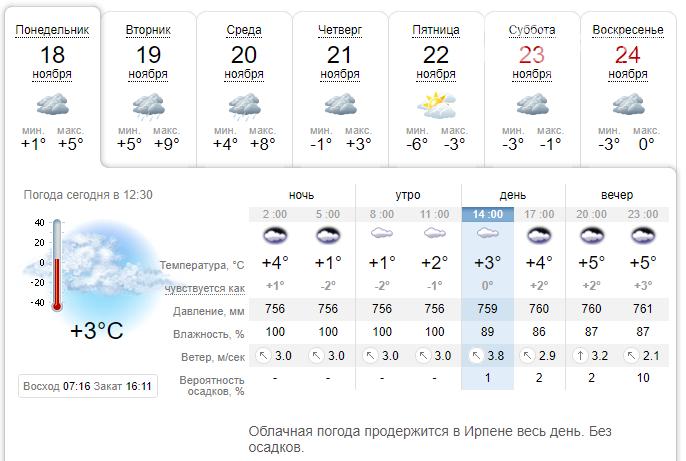 Зима наступає: погода в Ірпені на цьому тижні, фото-1