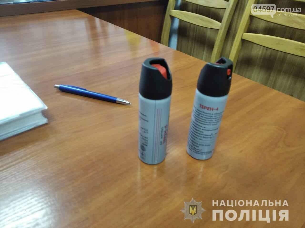 У Бучі учні в школі з'ясовували відносини з допомогою газових балончиків, фото-2