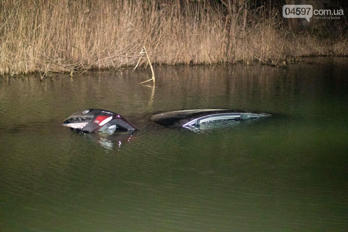 В Ірпені автівка з дитиною в салоні впала у річку, фото-1