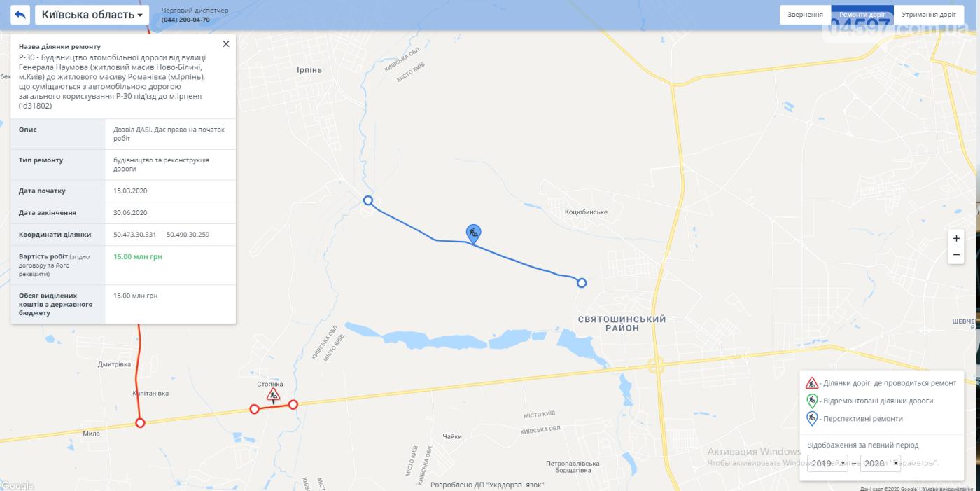 Укравтодор оголосив тендер на ремонт Новоірпінської траси, фото-1