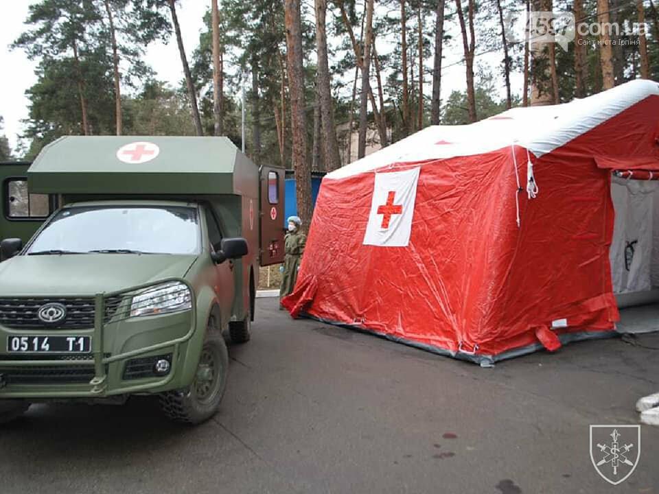 В Ірпені провели тренування військових медиків на випадок спалаху коронавірусу, фото-5