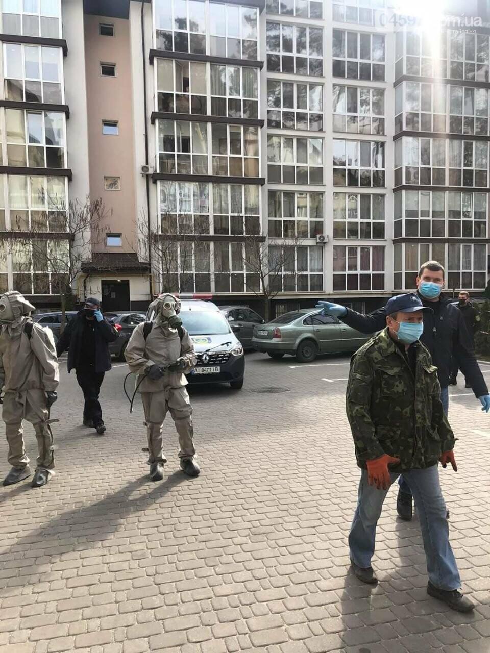 В Ірпені та Ворзелі дезинфікують будинки, де живуть хворі на коронавірус, фото-1