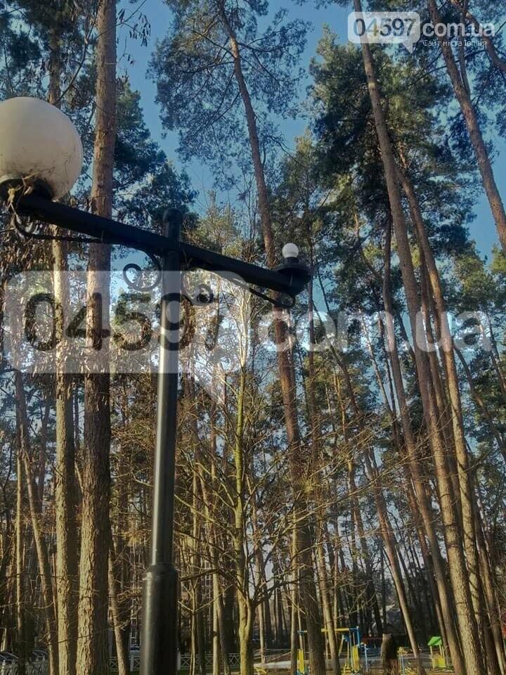 В Ірпені вандали потрощили ліхтарі в парку Покровський, фото-2