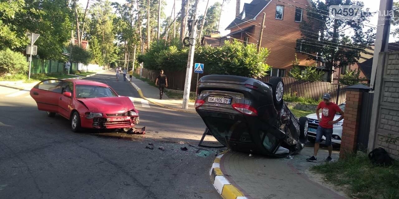В Ірпені серйозна ДТП: машину перекинуло на дах , фото-2
