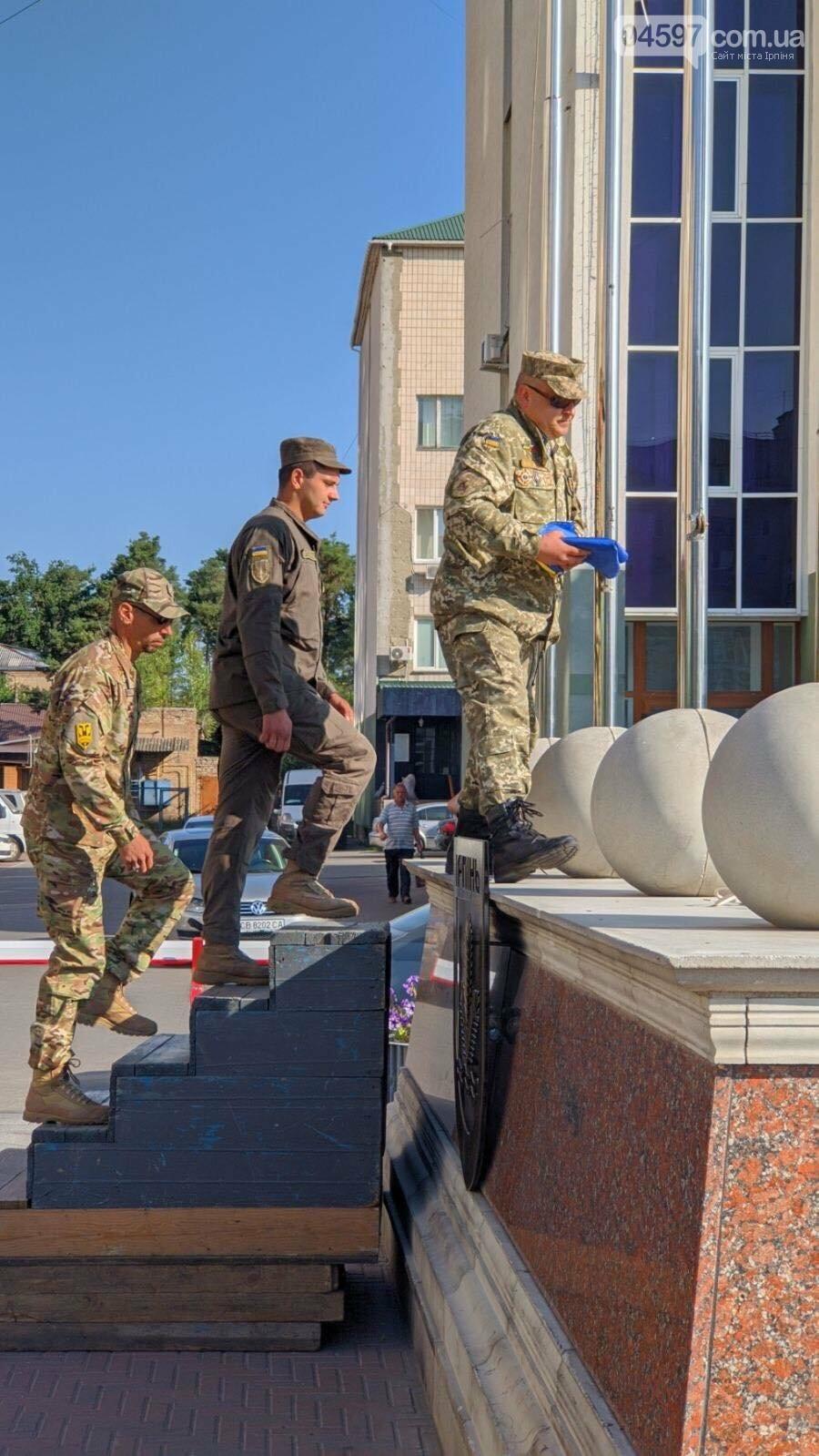 В Ірпені урочисто підняли Державний прапор України, фото-6