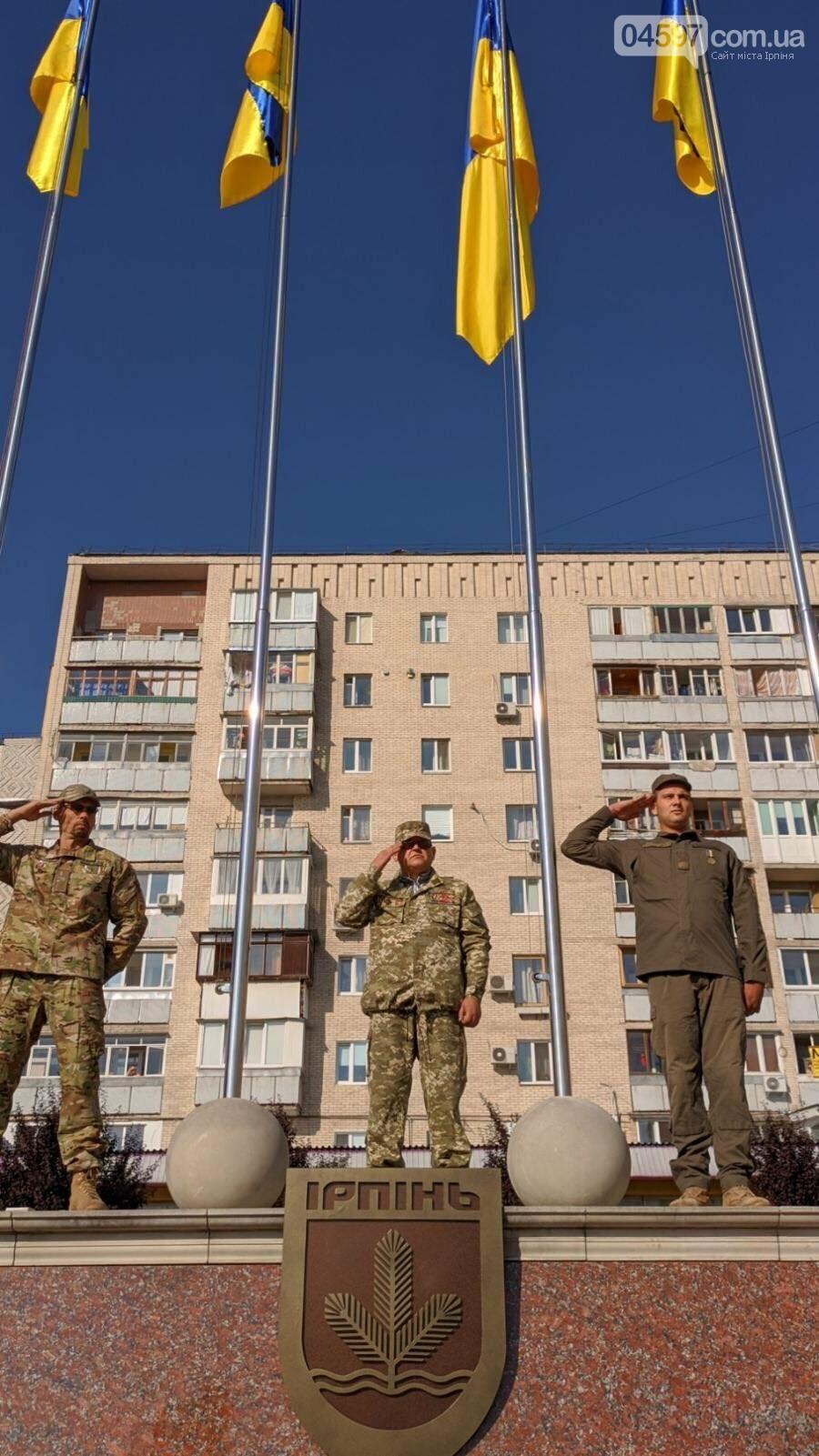В Ірпені урочисто підняли Державний прапор України, фото-5