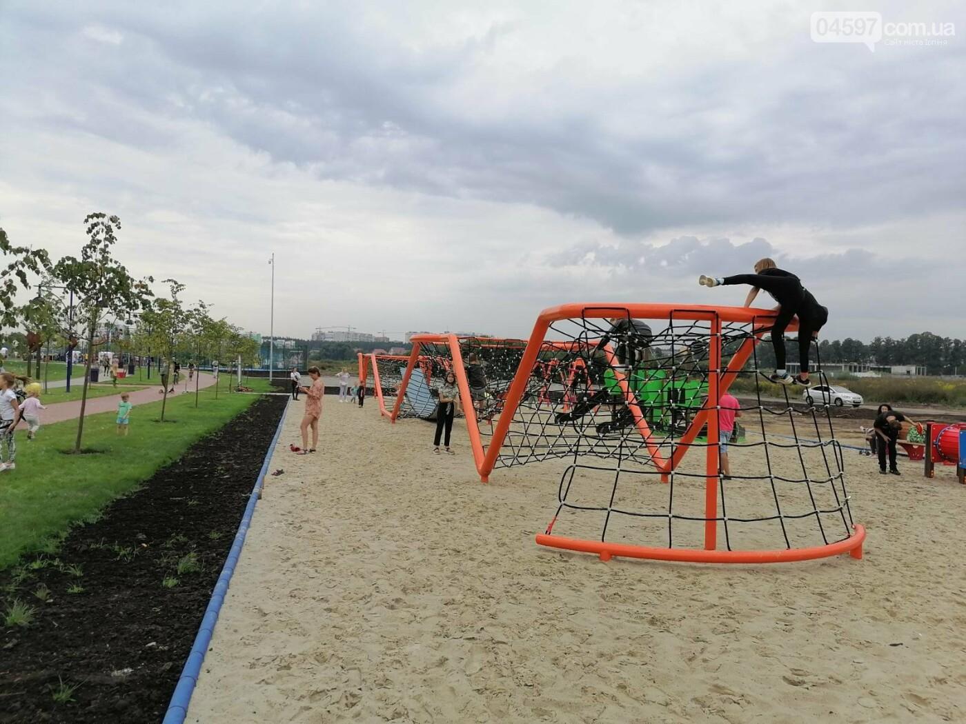 В Ірпені з'явився гігантський мотузковий атракціон, фото-2