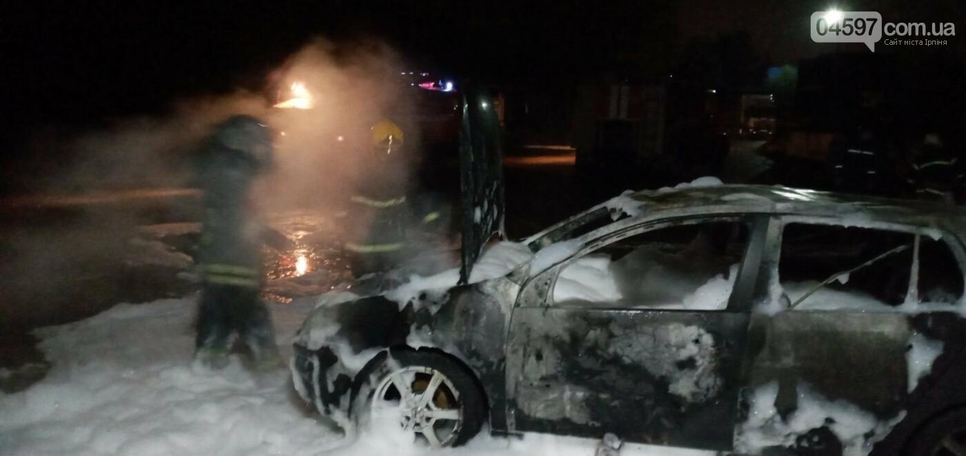 В Бучі спалахнув автомобіль (ВІДЕО), фото-1