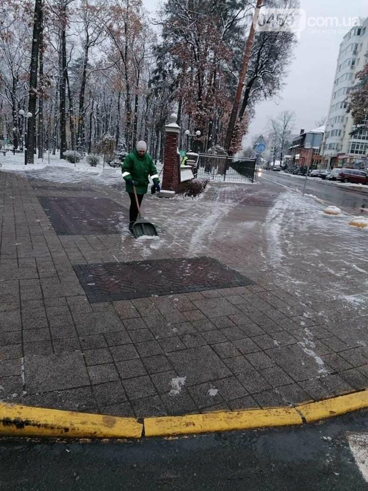 Комунальники Ірпеня з самого ранку почистили дороги від снігу , фото-2