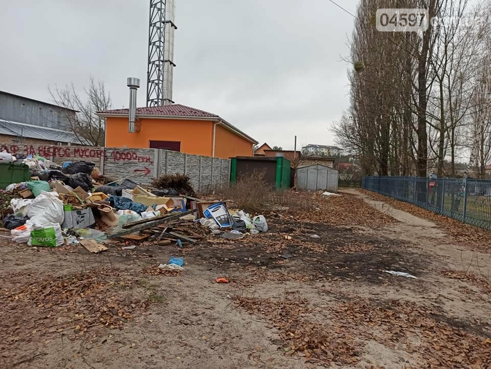 Стихійне звалище біля садочка в Гостомелі: люди занепокоєні, фото-2