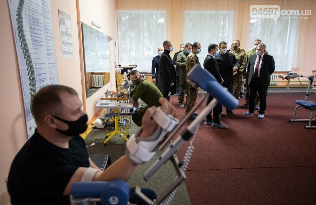 Володимир Зеленський відвідав центр реабілітації військових в Ірпені, фото-3
