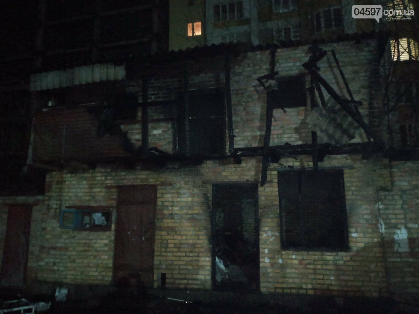 Пожежа в Гостомелі, загинув чоловік