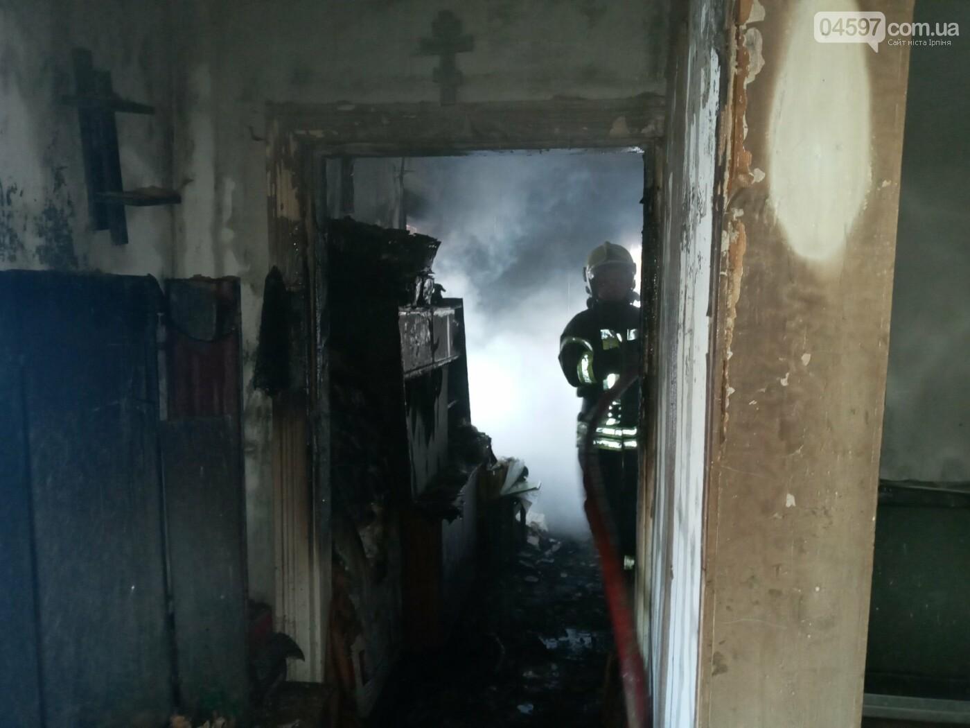 Пожежа в Гостомелі