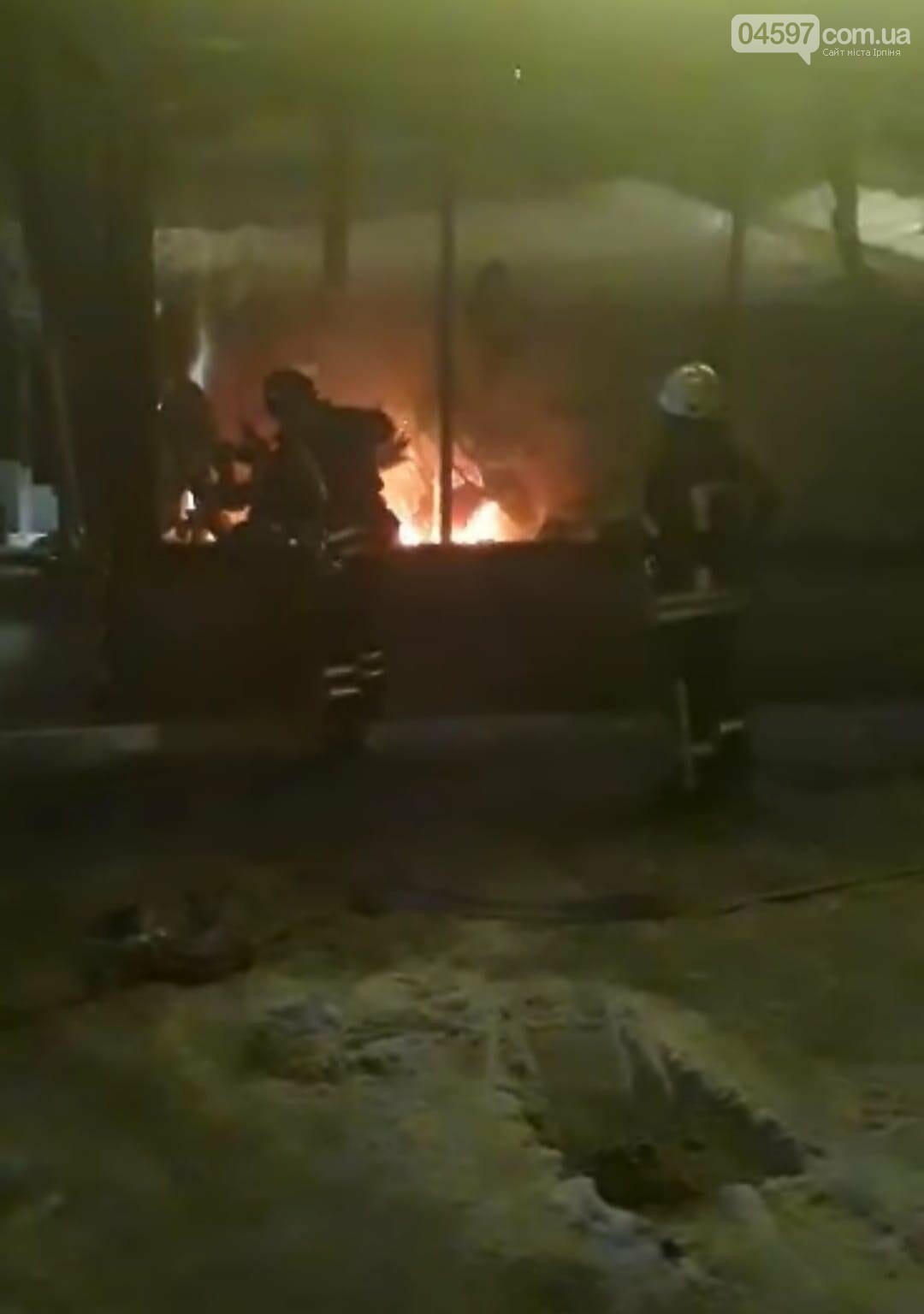 Пожежа в магазині Рошен в Ірпені