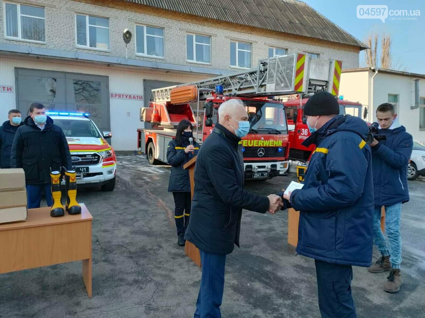 В Ірпені пожежники отримали нову техніку