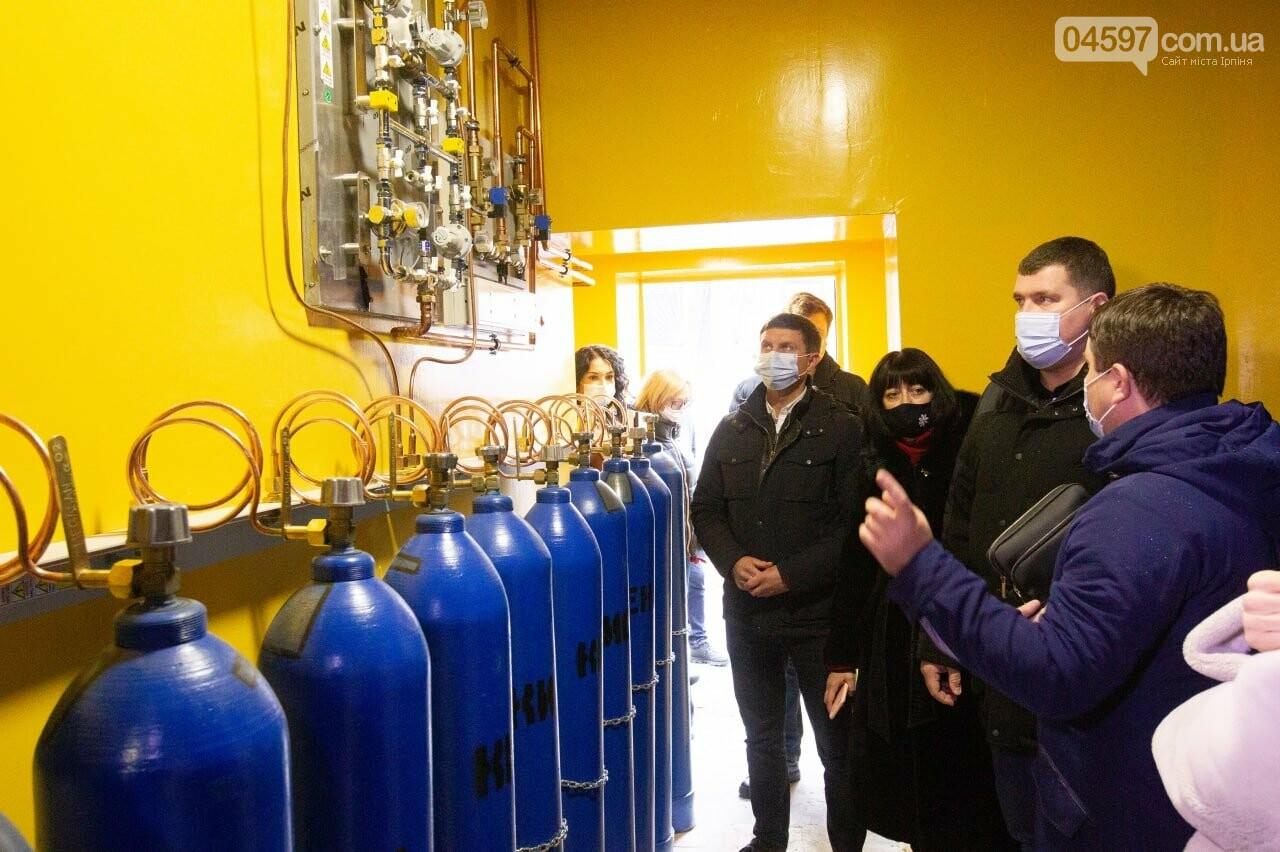 Запуск кисневої станції в Ірпені