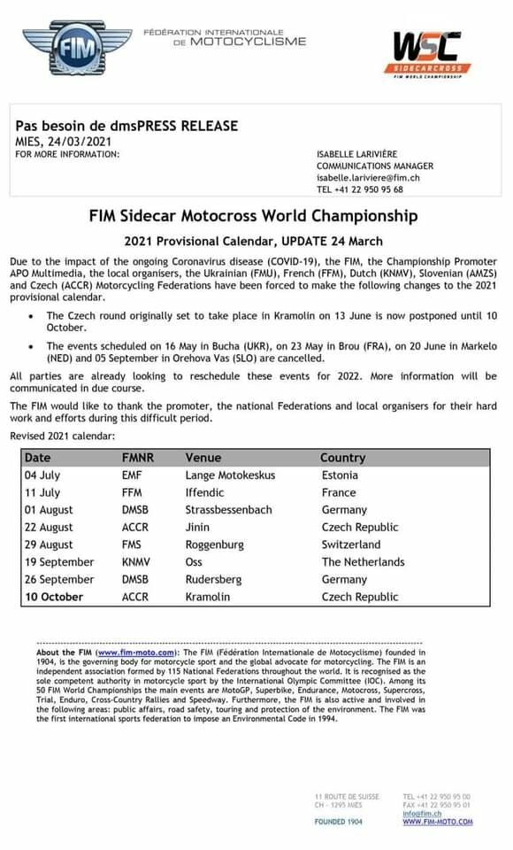 Чемпіонат світу з мотокросу у Приірпінні перенесли через COVID-19